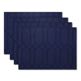 Picture of Chagall Placemat, Navy, Set of 4