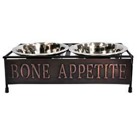 Picture of Bone Appetite - Copper Water & Food Bowl