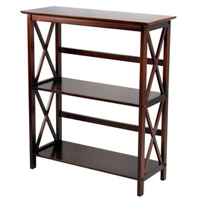 Picture of 3-Tier Brown X-Frame Shelf