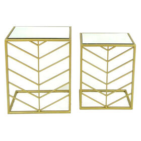 Picture of 16X20 Gold Square Mirror Table - Large