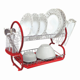 Picture of 2-Tier Dish Rack - Red