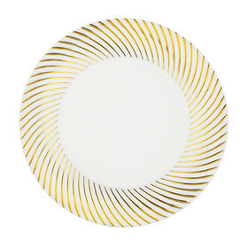 Picture of White & Gold Swirl 7-in Plates- Set of 10