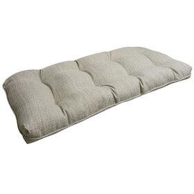 Picture of Fiddlestix Linen Wicker Settee Cushion