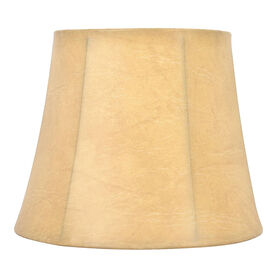 Picture of Tan Faux Leather Lamp Shade 7X10X8