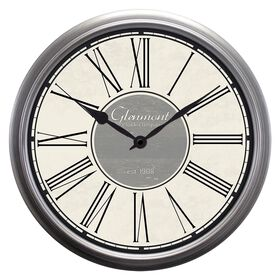 Picture of 30-in Distressed Modern Silver and Gray Clock