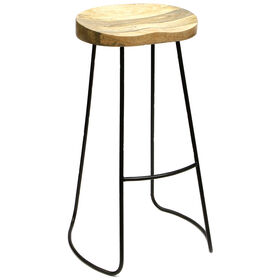 Picture of Vintage Wood Gavin Barstool 30-in