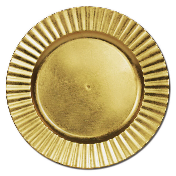 Wavy Gold Charger- Set of 4
