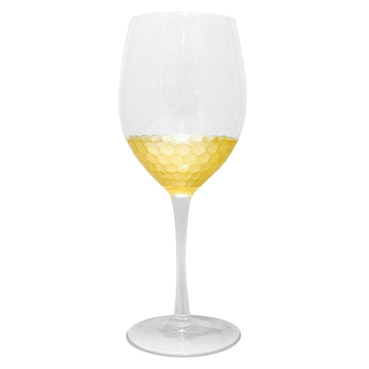 Gold Foil Stemless Wine Glass - Set of 2