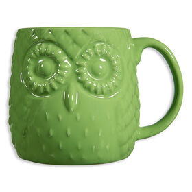 Picture of Lime Embossed Owl Mug- 20 oz