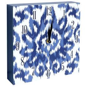 Picture of INDIGO IKAT CLOCK 10X10