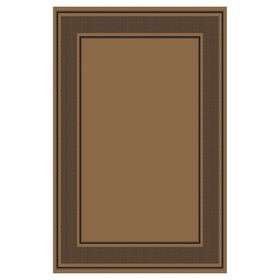 Picture of Brown and Black Borderland Rug 8 X 10 ft