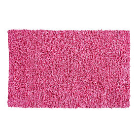 Picture of Pink Shiny Fur Shag Accent Rug 20 X 34-in