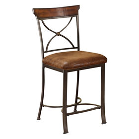 Picture of Brown Madrid Bar Stool 24-in