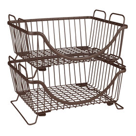 Ashley Stacking Basket Tray - Bronze