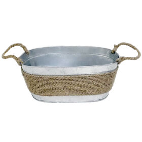 Picture of Metal Tub with Jute Rope, Large