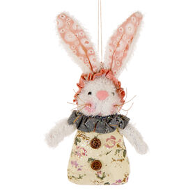 Picture of 8IN PLUSH BUNNY ORNAMENT