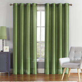Picture of Preston Faux Silk Foam Back Drapes - Sage