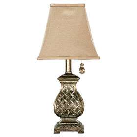 Picture of Woven Accent Lamp with Pull - 17 in. (shade sold separately)