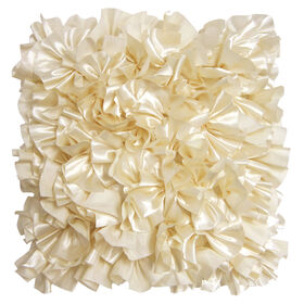 Picture of Satin Ruffle Ivory - 18 X 18 in