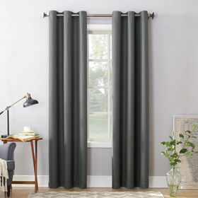 Charcoal Montego Window Curtain Panel 95-in