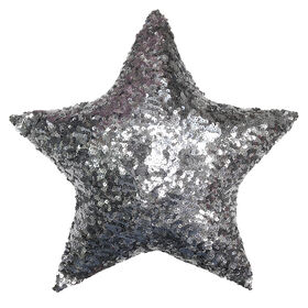 Picture of 16-in. Single Star Silver Christmas Pillow