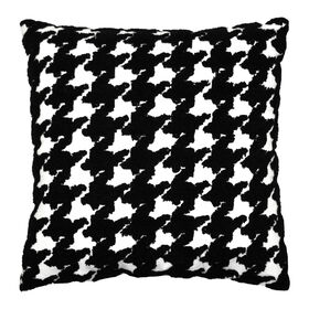Picture of Houndstooth Pillow - Black & White, 18-in.