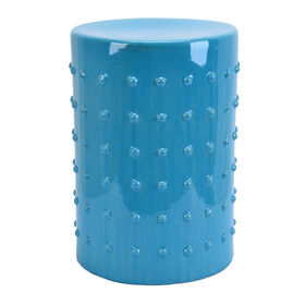 Picture of Ceramic Plantstand with Bumps - Turquoise, 13x18-in.