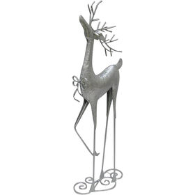 26in Metal Standing Silver Deer