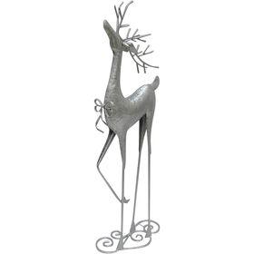 26in Metal Standing Silver Deer