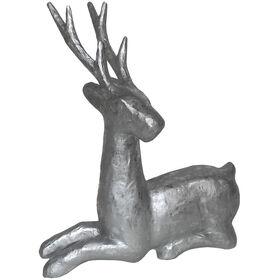 17in Silver Paper Mache Deer