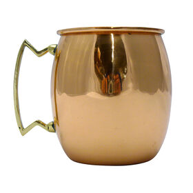 Copper Barrel Moscow Mule Mug with Brass Handle