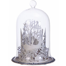 9in Reindeer Glass Dome