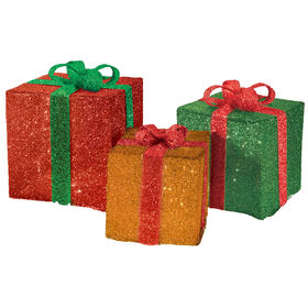 Pre-lit Tinsel Packages