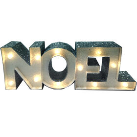Noel Lighted Glitter Sign