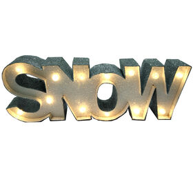 Snow Lighted Glitter Sign