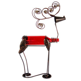 22.95in LED Metal and Glass Reindeer