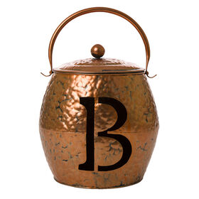 Metal Monogram Bucket B - 8-inch