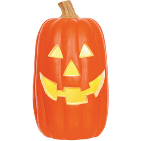 X-Large Orange Light-Up Halloween Pumpkin 16-inch