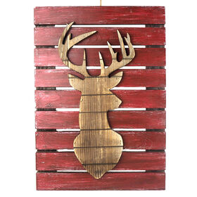 18.9in Wooden Reindeer Head