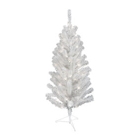 4 Ft Pre-Lit White Christmas Tree