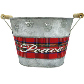 Galvanized Christmas Bucket