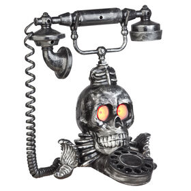 Animated Victorian Skull Phone