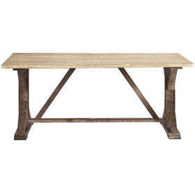 Camden Wood Trestle Table 74-inch x 38-inch