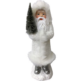Paper Santa with Tree on Base