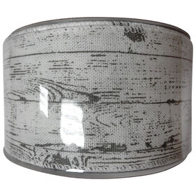 2.5in x 8yd Gray/White Birch Ribbon