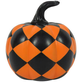 Black/Orange Harlequin Pumpkin 5.3-inch