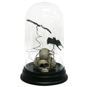 Plastic Bats and Skulls in Cloche