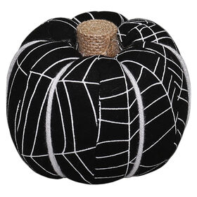 Black & White Webbed Pumpkin