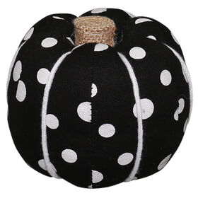Black/White Dot Pumpkin - Medium
