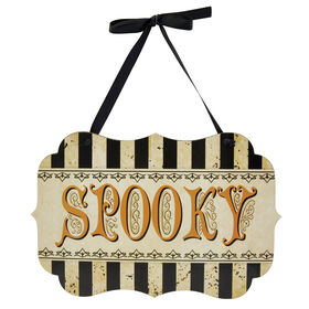Spooky Sign Wall Decor 11-inch